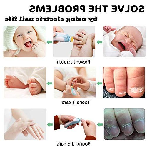 Nail Trimmer Set with Clippers, Fingernails Grooming Kit Infant Toddler Women, LED Light and 10 Heads