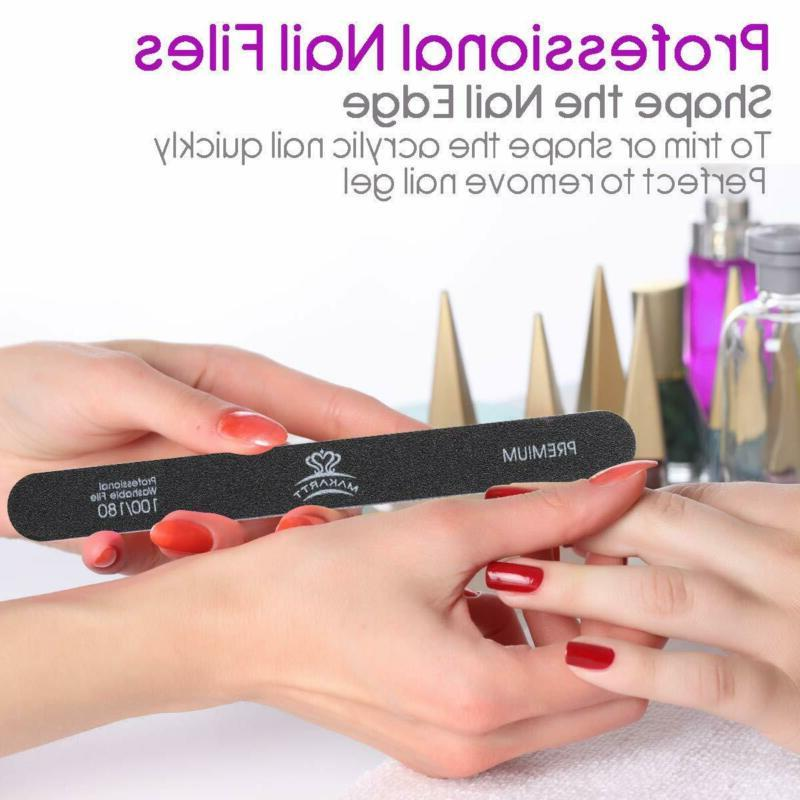 Professional Nail Files Double Sided Black Washable