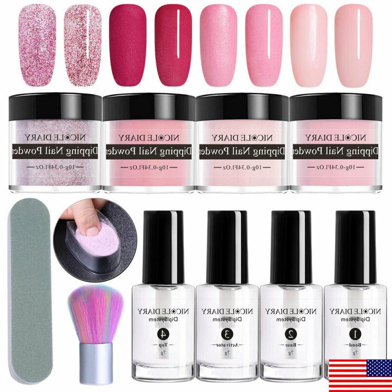 nicole diary 11pcs set nail dipping powder
