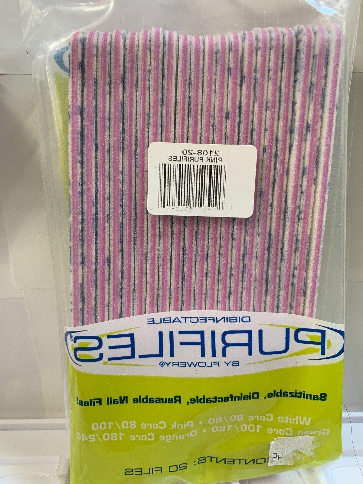 original purifiles disinfect nail files grit 80