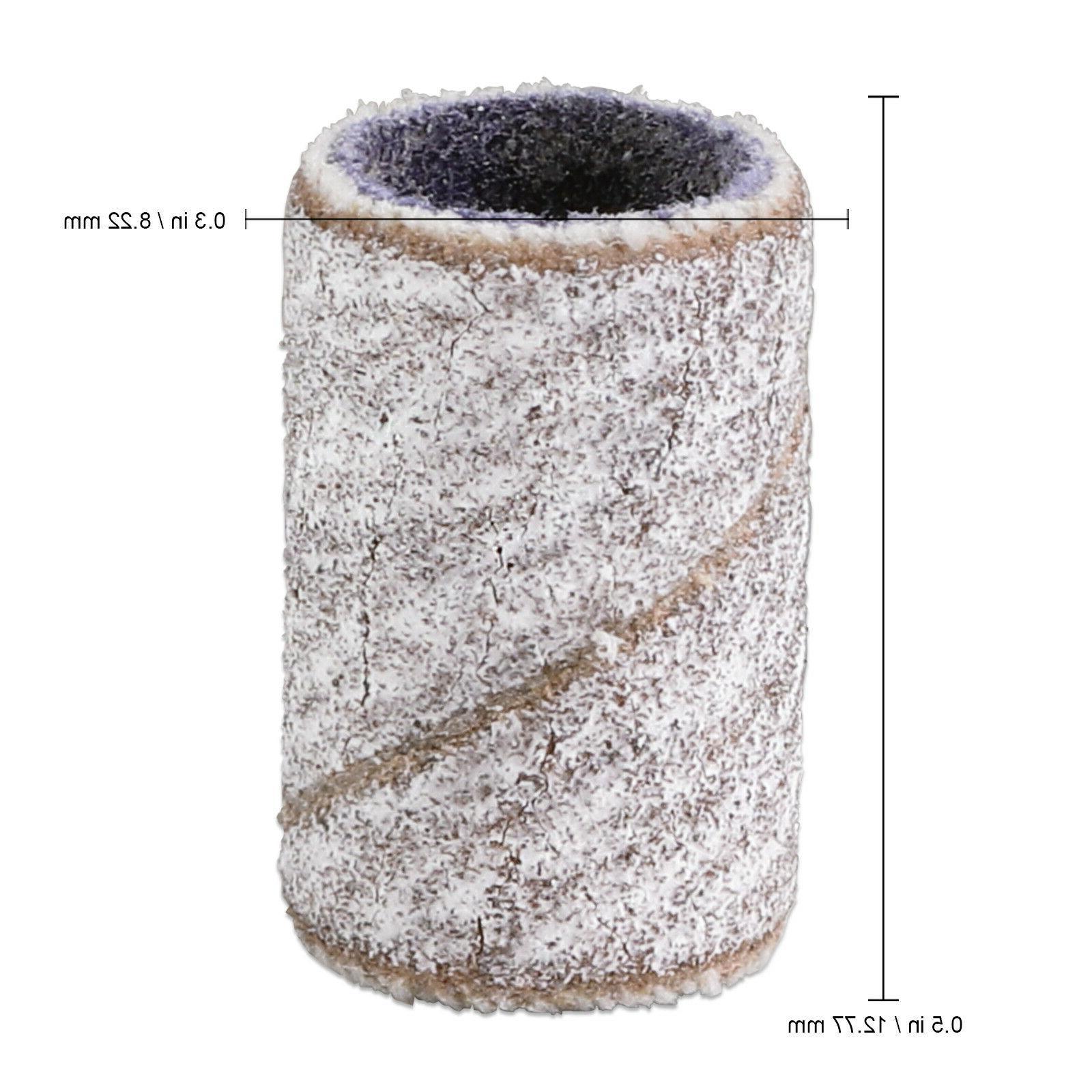 PANA 100 Pieces Sanding Bands Nail Drill Bits File