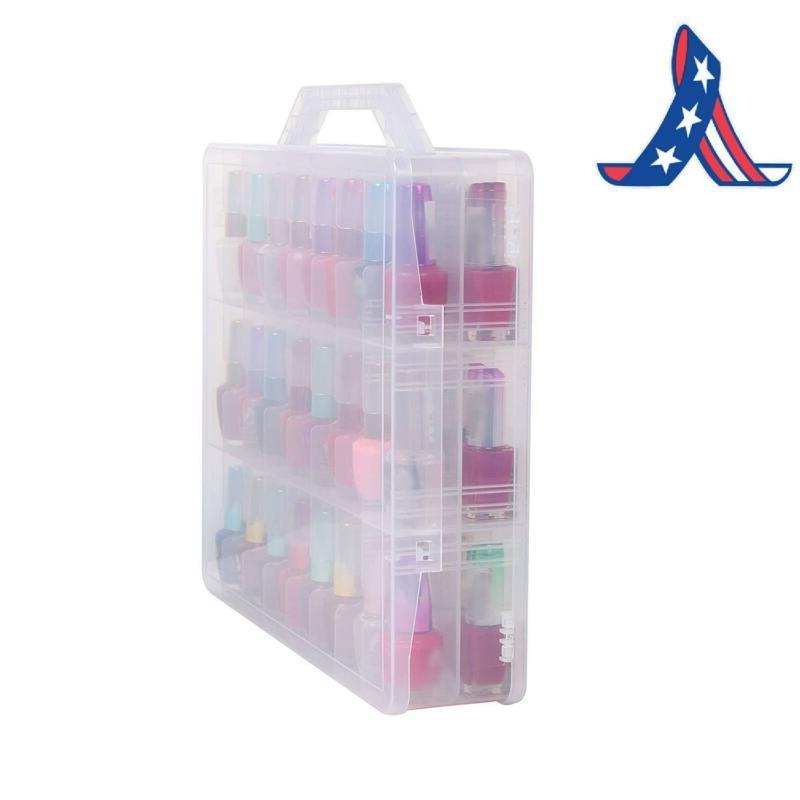 Portable Clear Nail Polish Organizer Holder Up To 48 Adjustab