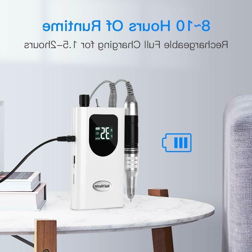 Potable Drill 35000RPM Pedicure LED Display