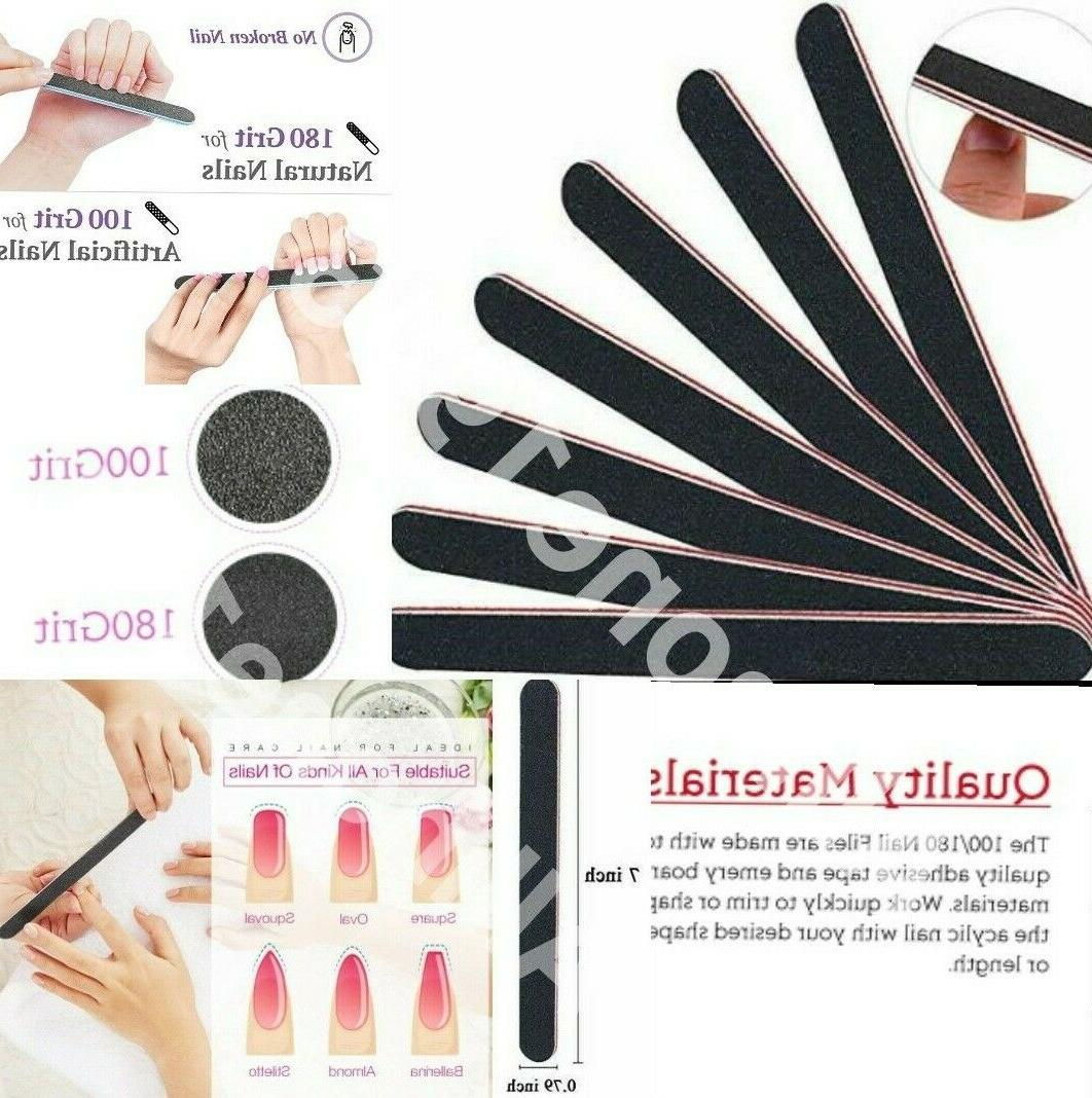 pro double sided manicure nail file emery