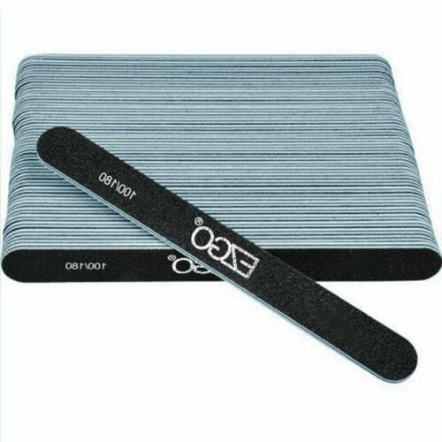 professional 50pc nail files 100 180 grit