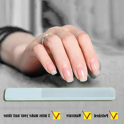 Professional Glass Finger Nail File Pedicure Fingernail File