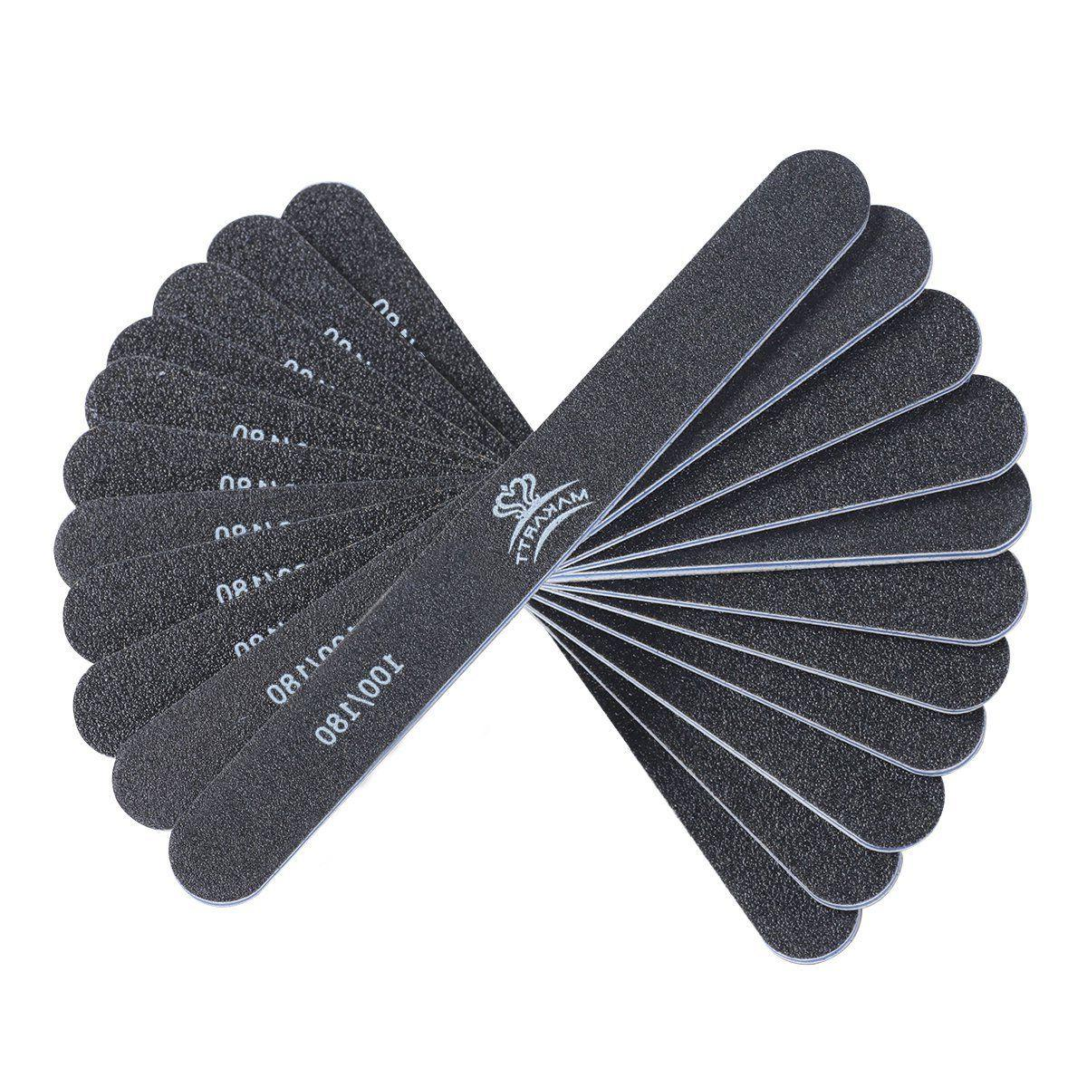 professional nail files black washable double sided