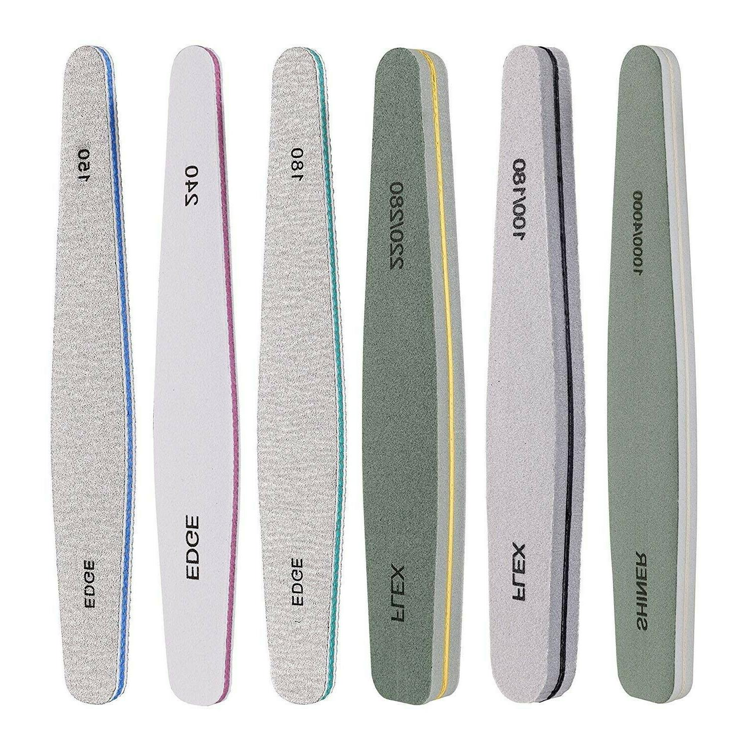 Professional Nail Files Buffers Emery Boards Different Grit