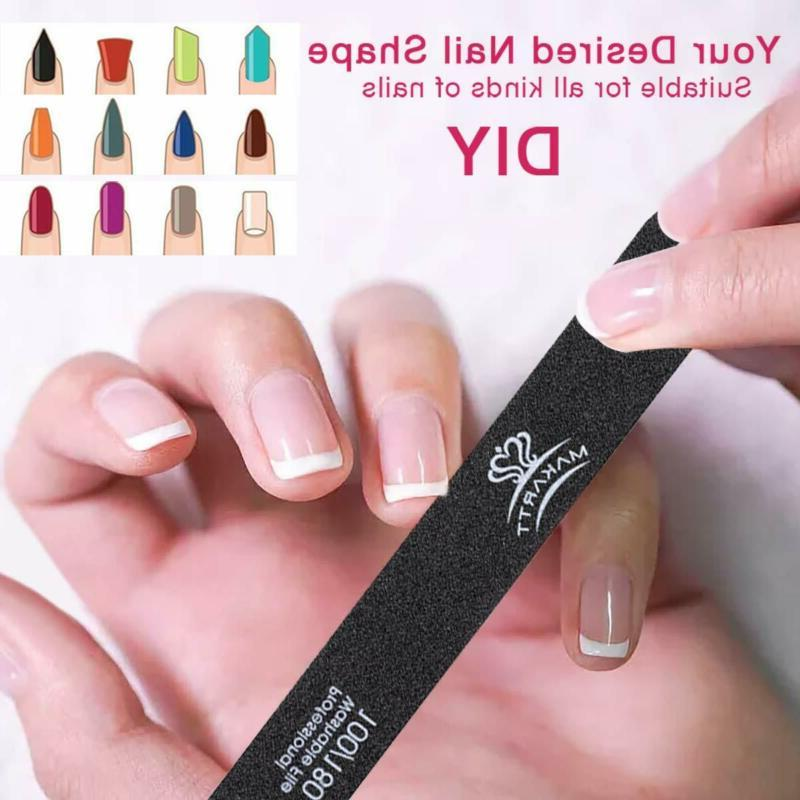 Professional Nail Manicure Files Double Sided Black