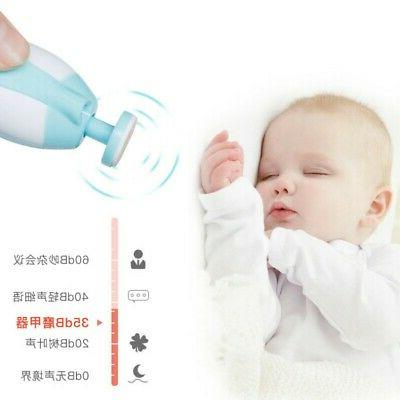 Safe Electric Kids Baby Toddler Nail File Clipper Trimmer Cu
