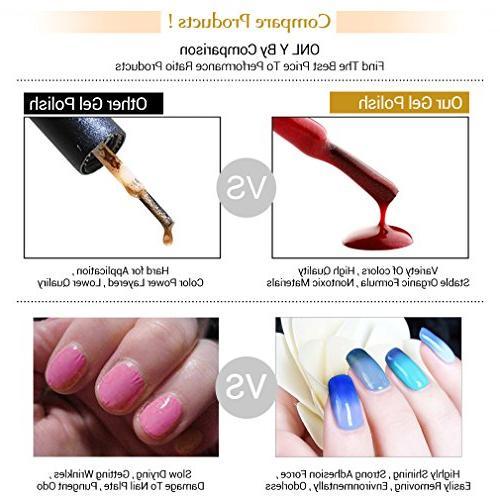 FairyGlo 6 Colour Changing Polish + 9W USB + Tools Dryer Light Nail Nipper Gift Soak 026