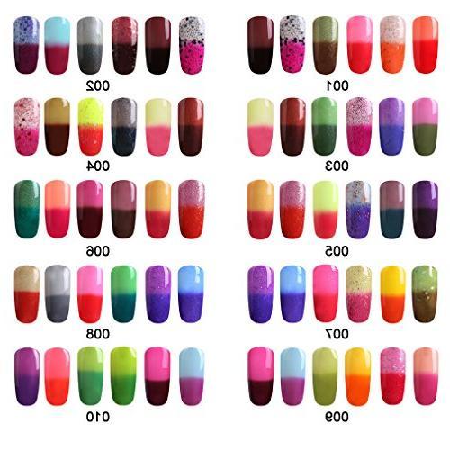 FairyGlo 6 Colour Nail Polish Base 9W + Manicure Tools Dryer Light Nail Buffer Nipper Push 026