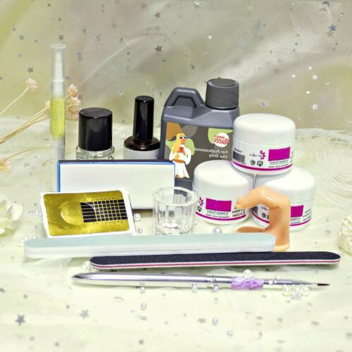 US~Acrylic Nail Tips Pump Files Kit
