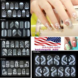 Lace Diamond Flower Fashion Trendy Design Stickers Nail Art