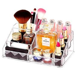 GLOGLOW Clear Makeup Organizer, Acrylic Beauty Products Stor