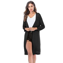 Women's Loose Gradient Solid Knit Cardigan Retro Long Sleeve