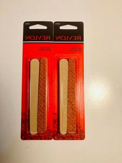 Lot of 2 Revlon Compact Nail File Dual Sided Emery Boards 10