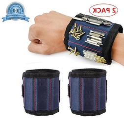 2 Pack Magnetic Wristbands for Men & Women, Screwdriver Bit
