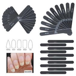 Makartt Professional Nail Files Black Washable Double Sided