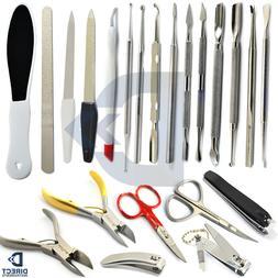 Manicure Pedicure Tools Kits Cuticle Pusher Nipper Cutter Cl