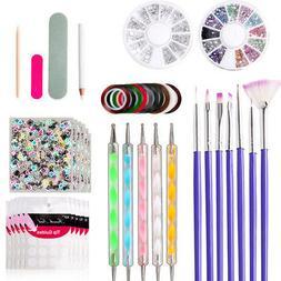 Manicure Tool 3D Nail File Art Drawing Pen Polishing Block B