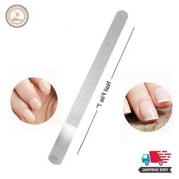 Metal Stainless Steel Nail File Double Sided Manicure Pedicu
