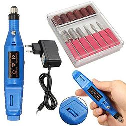 Speed Adjustable Electric Nail Drill Manicure Portable Pen T