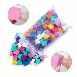 Mini Irregular Sanding Sponge Nail Buffer Files Grinding Pol