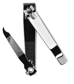 "SE N221-36 3"" Acrylic Nail Clipper with Nail File and Cleane"