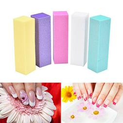 Nail Art 2Pcs Block Files Manicure Buffer For Salon UV Gel P