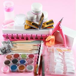 Acrylic Nail Tools Set Acrylic Powders Nail Tips Nail File D
