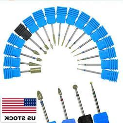 Nail Art Drill Ceramic Bits File Cuticle Manicure Pedicure N