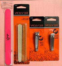 Revlon Nail Clippers & Nail Files. Manicure Set NEW FREE SHI
