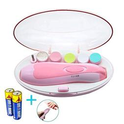 Baby Nail Clippers Safe Electric Baby Nail Trimmer File for