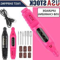 Nail Drill Machine Manicure Nail File USB Electric Acrylic P