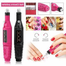 Nail File Drill Kit Electric Manicure Pedicure Acrylic Porta