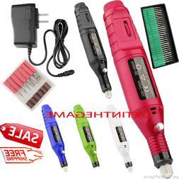Nail File DRILL Electric Acrylic Manicure Pedicure Portable