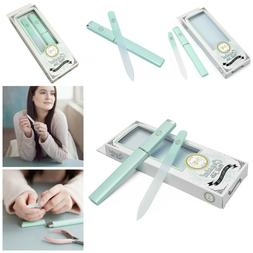 Nail File With Travel Case For Women Crystal Glass Fingernai