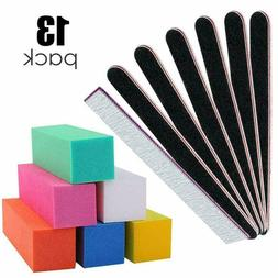 Nail Files and Buffer with 6 Double Sided 6 Buffer Sanding B