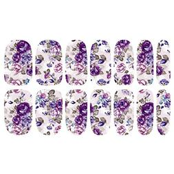 MagiDeal Nail Polish Stickers Full Wrap Patch Decals Nail Ar