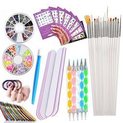 Nail Art Tools Manicure Kit 15PCS Nail Painting Brush 5PCS N