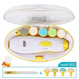 ELOSH Baby Nail File Electric -  Safe Baby Nail Trimmer, Ele