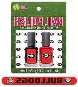 ncaa georgia bulldogs nail polish