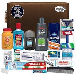 Convenience Kits Men's Premium 20-Piece Necessities Travel