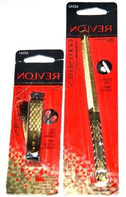 NEW Revlon Gold Series Titanium Coated File 42042 + Dual End