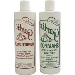 Nutrine Garlic Shampoo + Conditioner Combo Set Unscented 16
