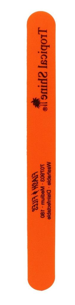 Tropical Shine Orange Flash Nail File Medium 180 Grit. Orang