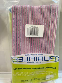 original purifiles disinfect nail files grit 80