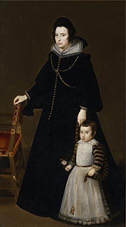 Oil Painting 'Velazquez Diego Rodriguez De Silva Y Antonia D