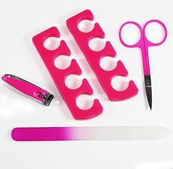 Pedicure kit - Manicure set 4-piece nail care includes glass